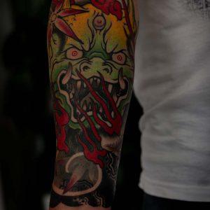 japanese oni tatto