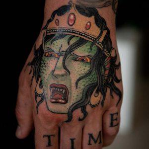 Hand tattoo Water Nymph